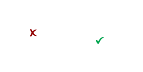 diagram of a portrait and landscape layout, with a red x in the portrait and a green check mark in the landscape