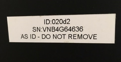 A&S label on printer