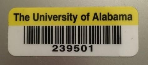 UA tag number on equipment